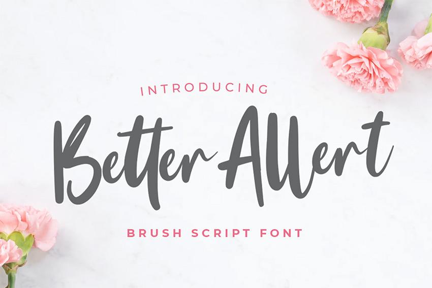 Better Allert (Popular Wedding Script Fonts)