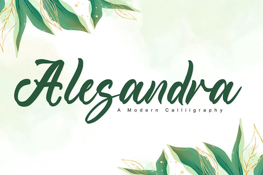Alesandr (Popular Wedding Script Fonts)