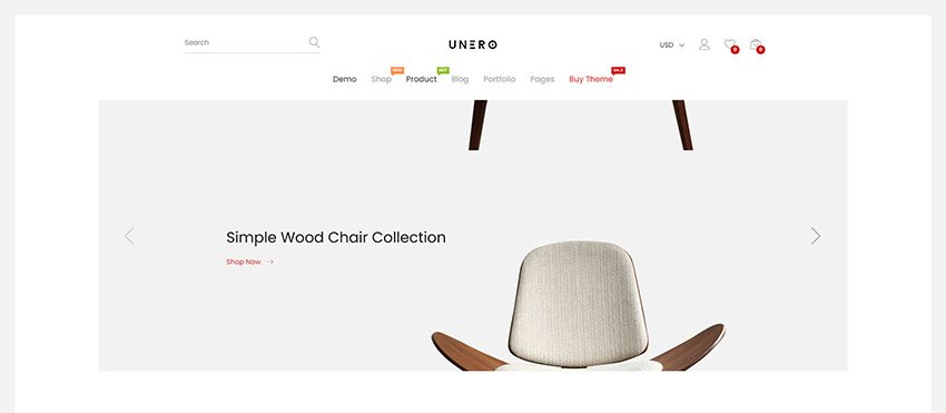 Unero - Clean  Minimal Shopify Sections Theme