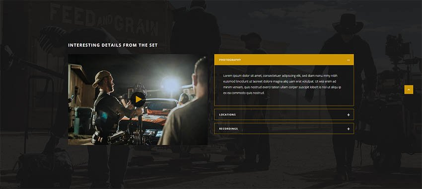 Silverscreen - A Theme for Movies Filmmakers and Production Companies