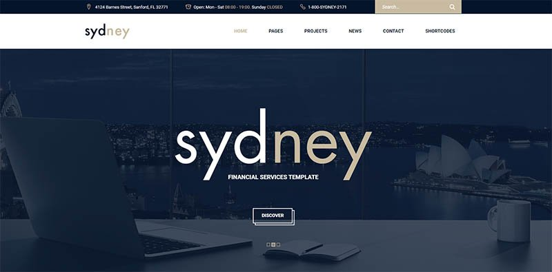Sydney - Multiuse Financial Business WordPress Theme