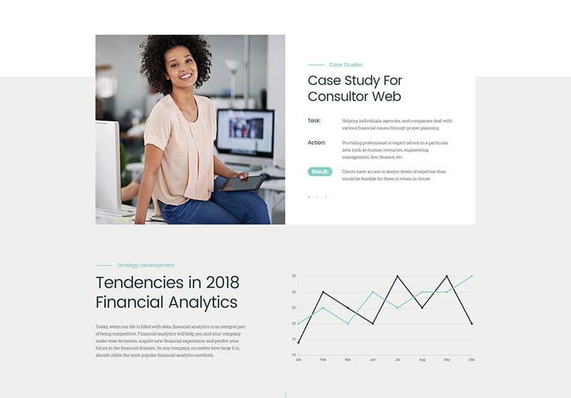 Consultor A Business Financial Advisor WordPress Theme