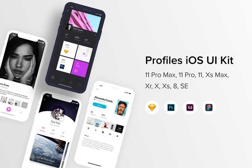 Profiles iOS UI Kit