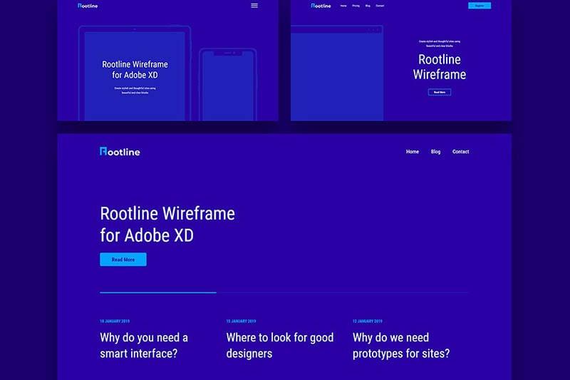 Rootline Wireframe UI Kit
