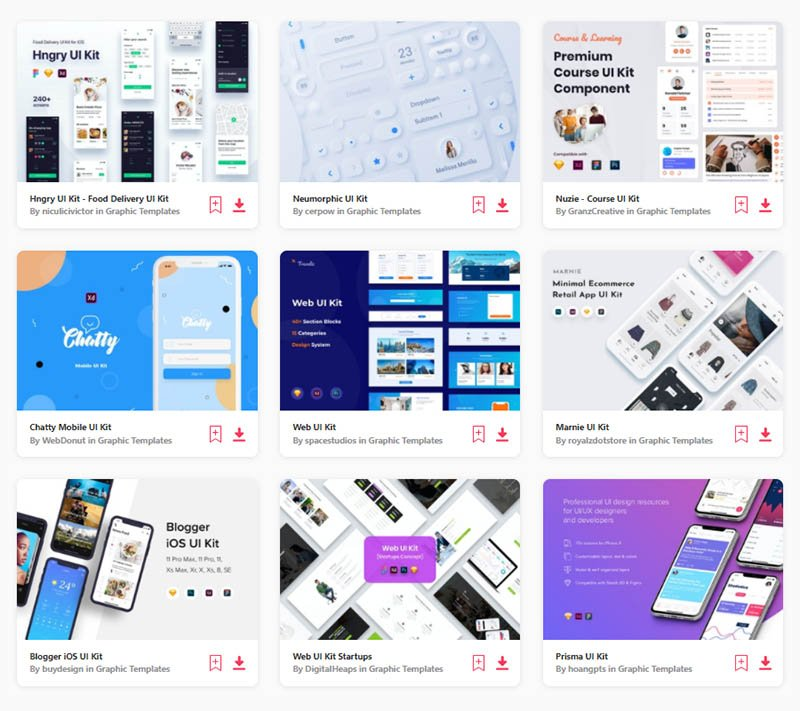Choose from thousands of Adobe XD UI Kits on Envato Elements