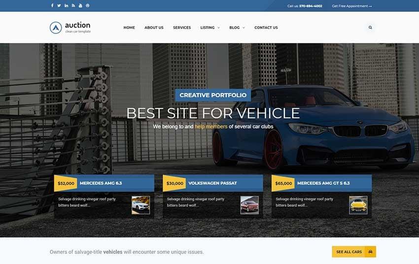 Auction - Car Dealer WooCommerce WordPress Theme