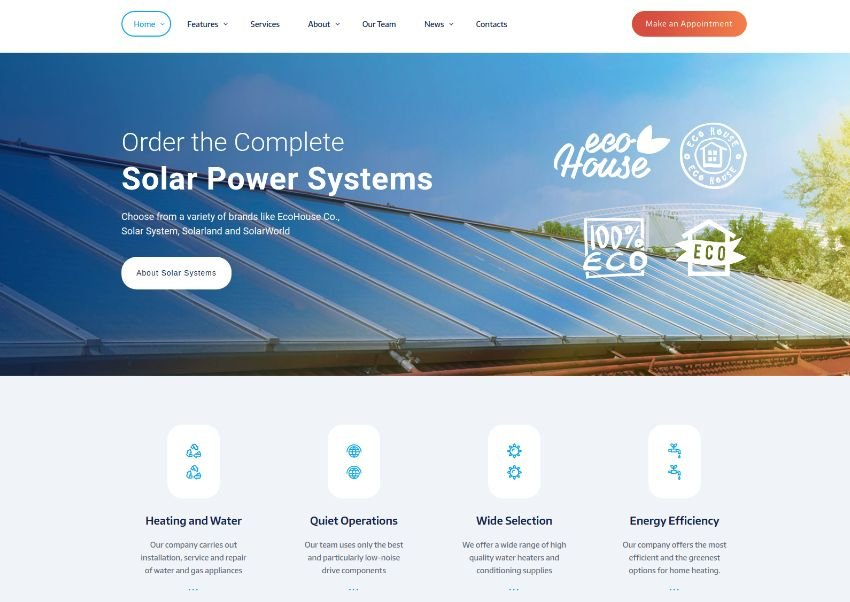 Air Supply | Conditioning Company and Heating Services WordPress Theme