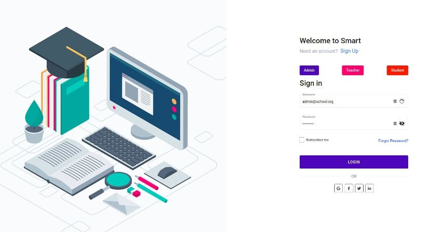 Smart - Angular 12+ Admin Dashboard Template for University, School & Colleges