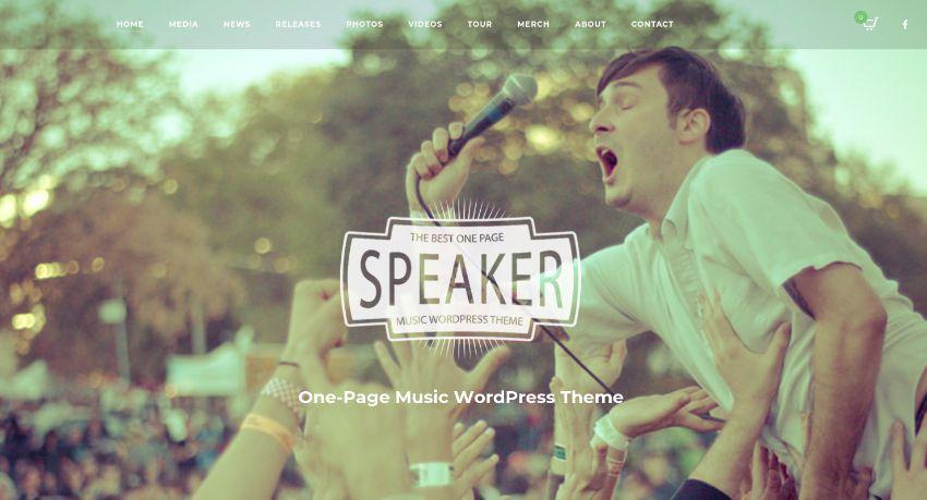Speaker - One Page Music Wordpress Theme