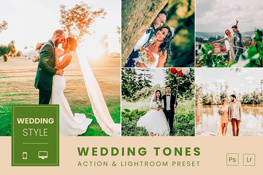 Wedding Tones Action & Lightroom Presets