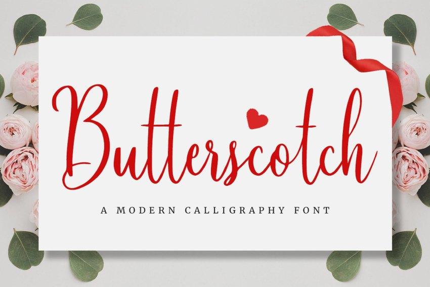 Butterscotch - Cursive Calligraphy Font