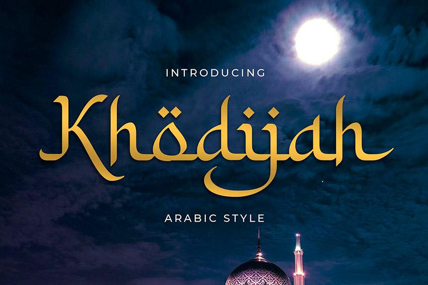 Khodijah - Arabic Style Font (OTF, TTF)