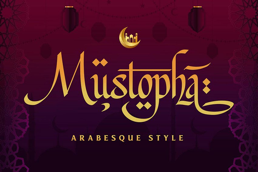 Mustopha - Arabic Style Font (OTF, TTF)