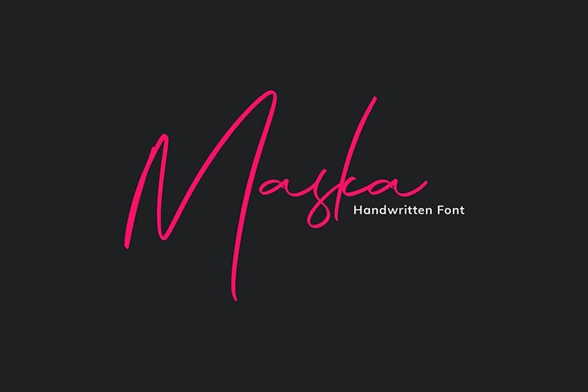 Maska: Handwritten Signature Font