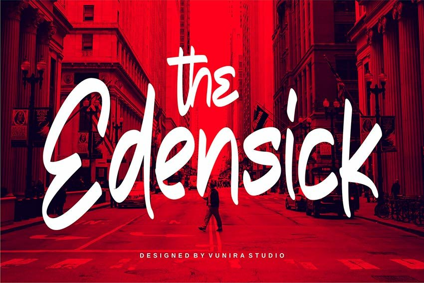 The Edensick: Thick Handwritten Font (OTF, TTF, WOFF)