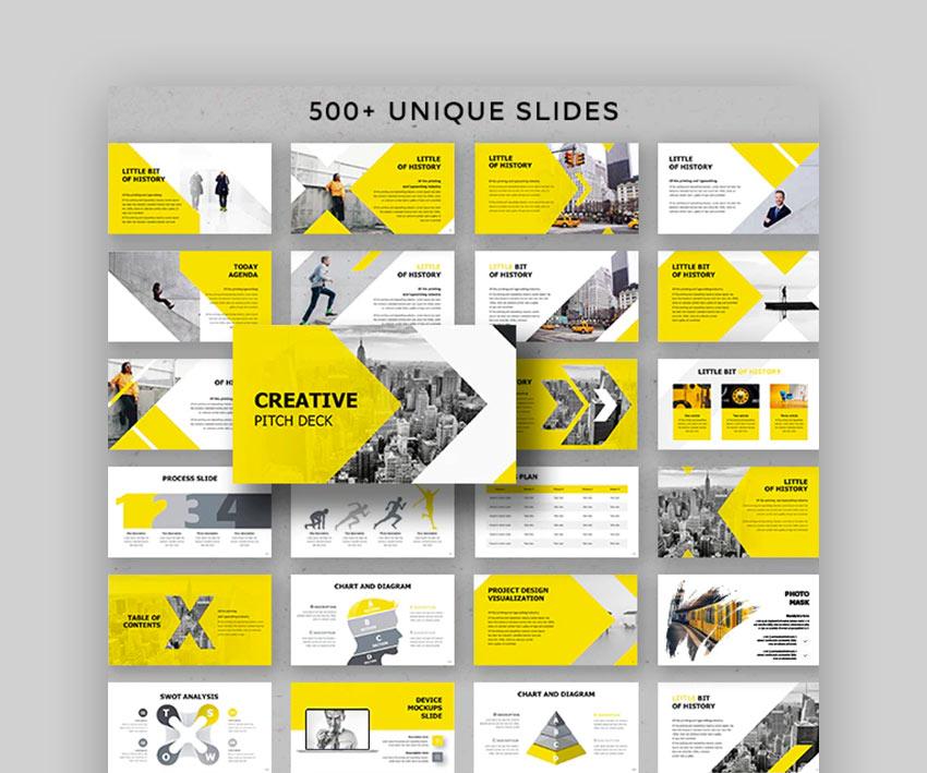 Creative Pitch Deck Google Slides Theme