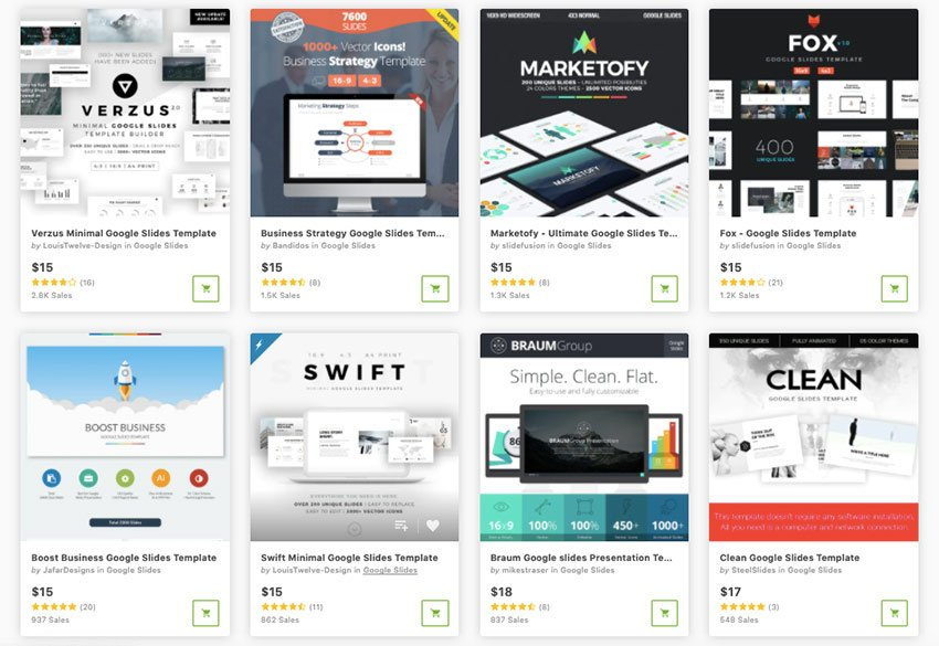 Buy Google Slides theme templates one at a time from GraphicRiver