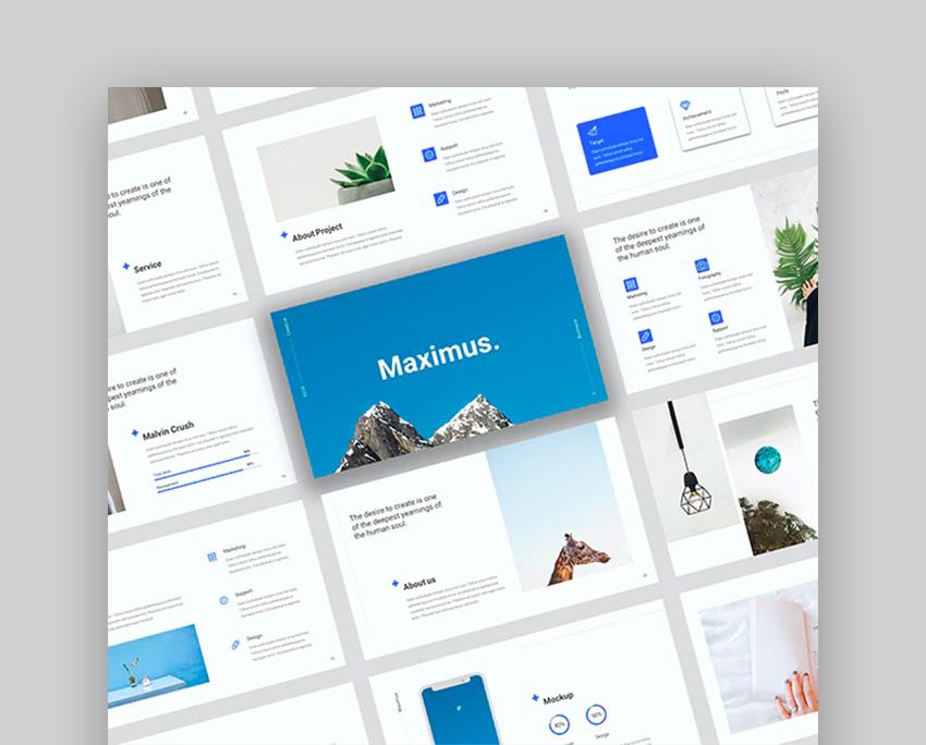 Maximus - Creative Bussiness Google Slide Template