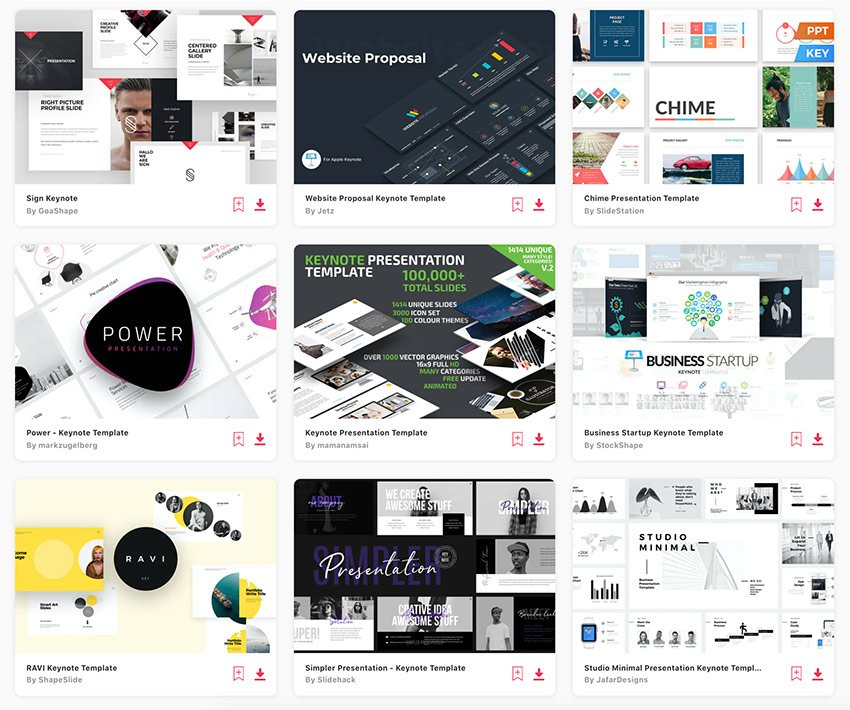 There are thousands of top Keynote presentation templates on Envato Elements.