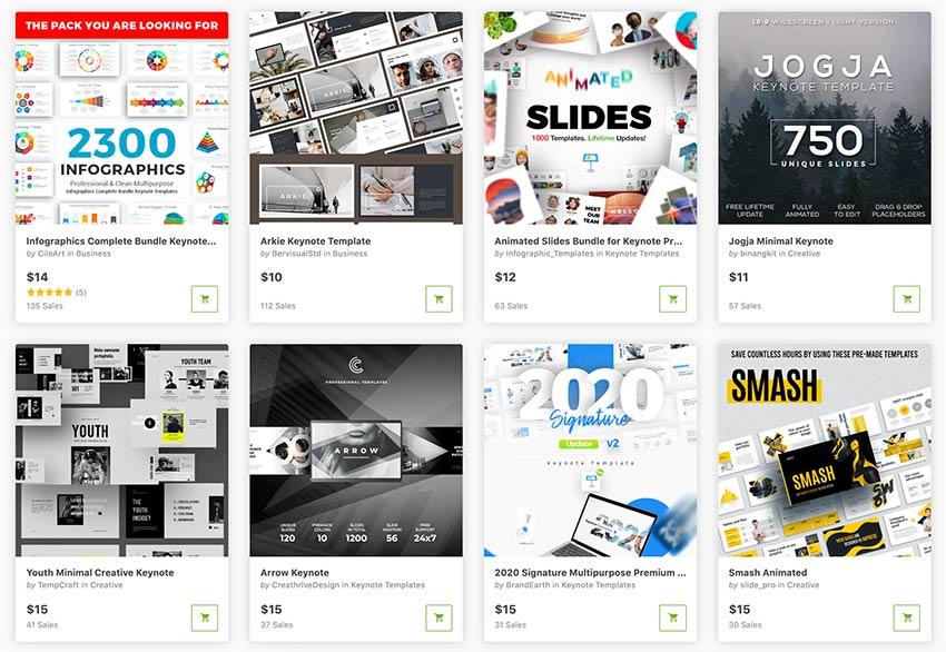Die besten Keynote-Themen stehen dank Envato Market für Sie zum Download bereit.