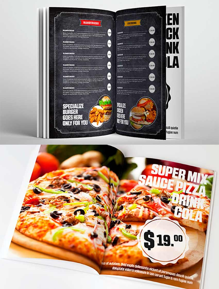 Food & Restaurant Menu Chalkboard Template