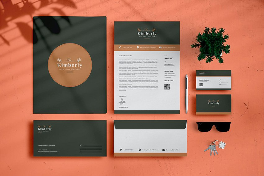 Use this new and fresh branding package template from Envato Elements for your new brand identity.