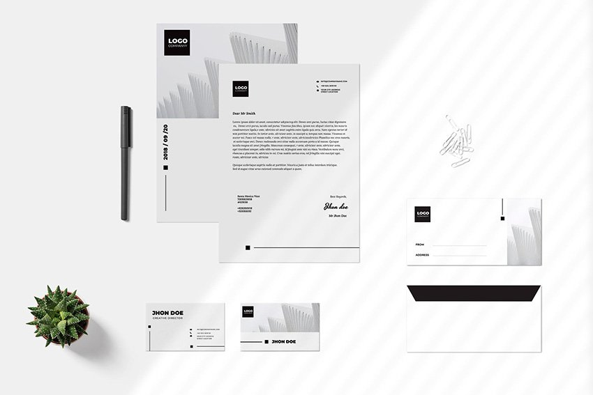 The right branding package template can match your business identity.