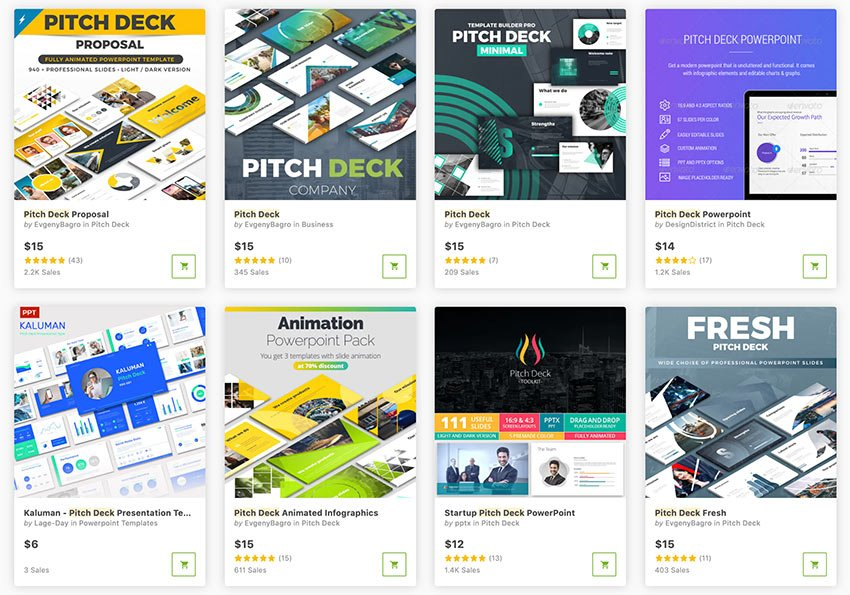 Best business pitch PowerPoint templates (for 2021), available for sale on GraphicRiver.