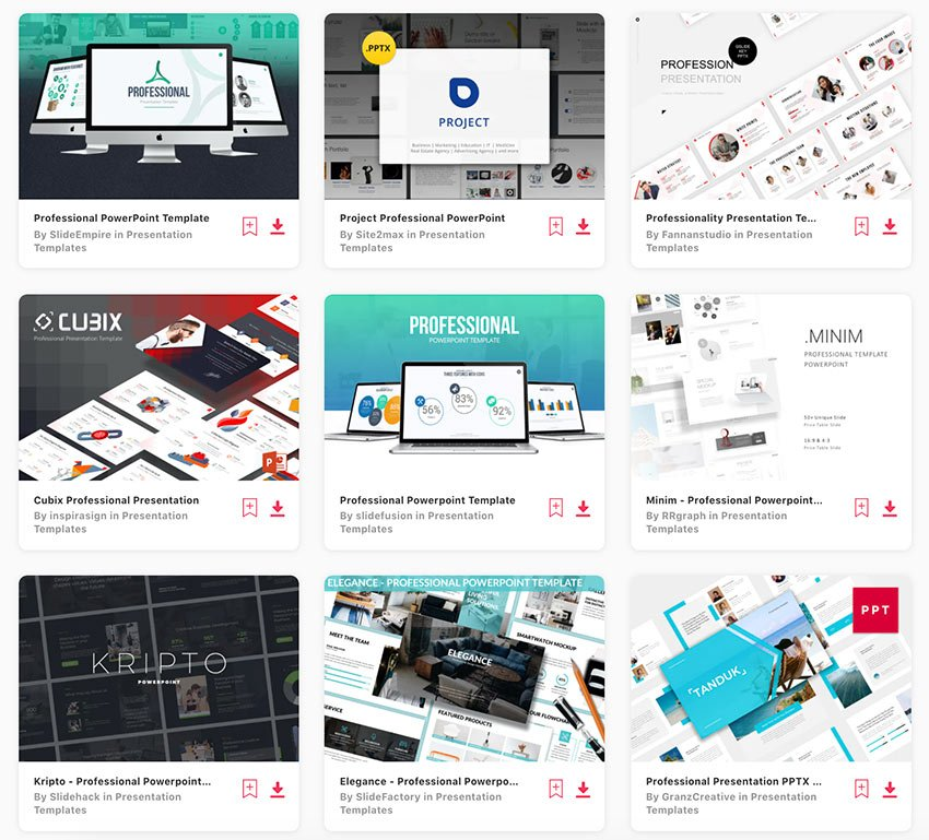 Genießen Sie unbegrenzte professionelle PowerPoint-Designs von Envato Elements.