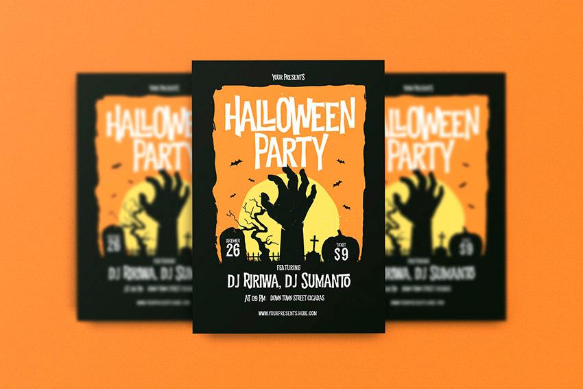 Classic Halloween Flyer Template (PSD)