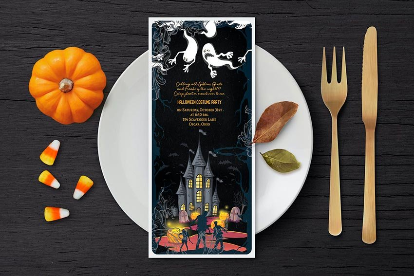Halloween Party Invitation Template (PSD)