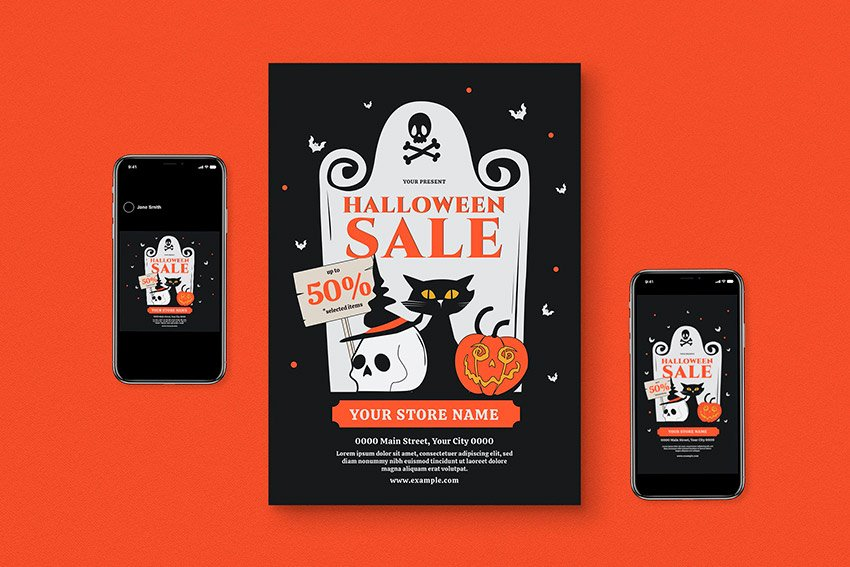 Sale Halloween Flyer Pack (PSD, AI)