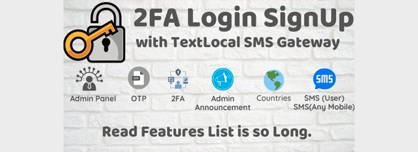 2FA Login SignUp Via TextLocal SMS