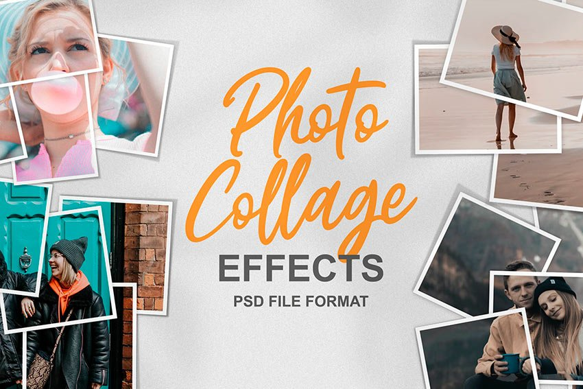 Photo Collage Template Effects (PSD)
