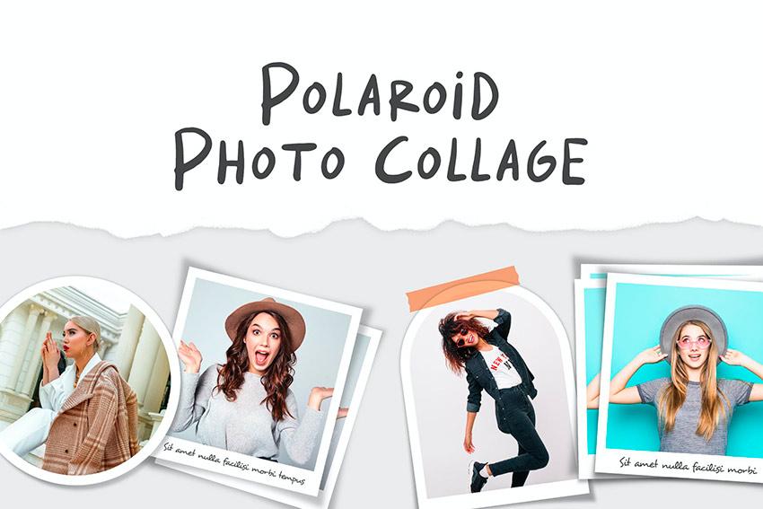 Polaroid Photo Collage Template (PSD)