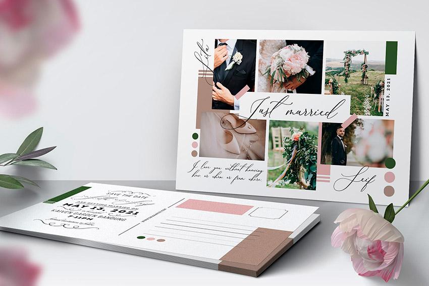 Simple Collage Template Invitation
