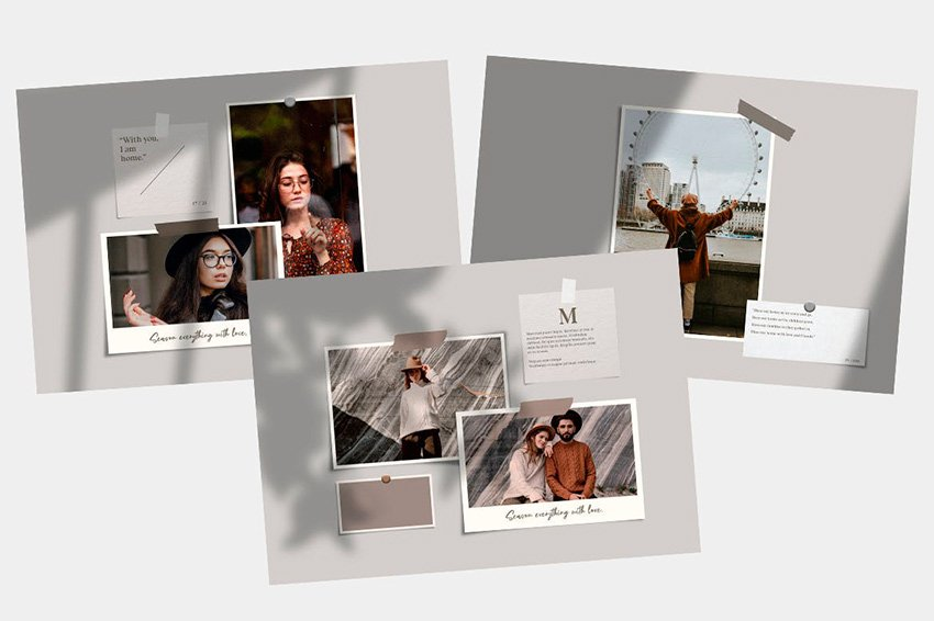 Get this cool Polaroid collage template template from Envato Elements.