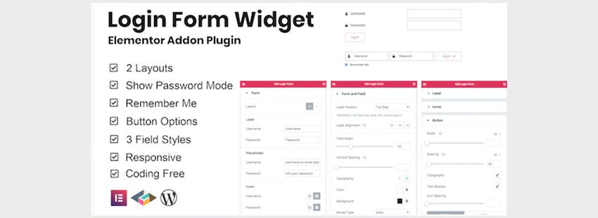 Elementor WordPress Custom Login Form