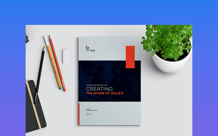 Bold Colors - Creative Annual Report Layout Design Template
