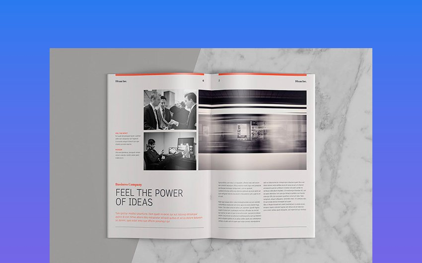 Magazine Style - Pro Annual Report Layout Design Template
