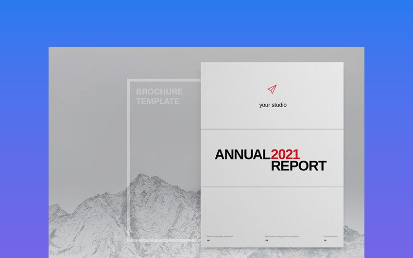 Minimalist Annual Report InDesign Template