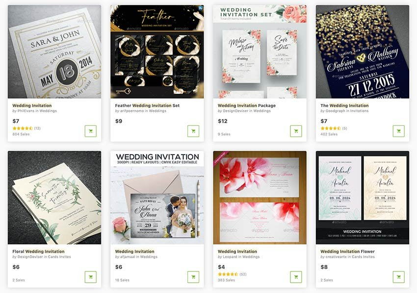 Buy DIY wedding invitations templates one at a time from GraphicRiver.