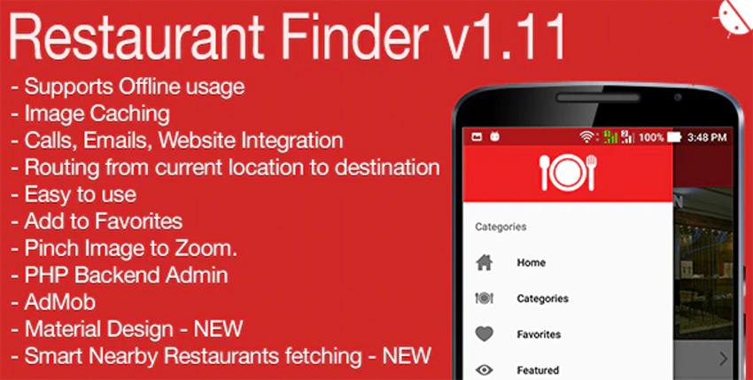 Restaurant Finder Full Android Application
