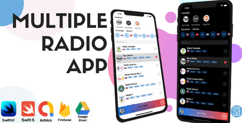 Multiple Radio App - iOS Swift Template