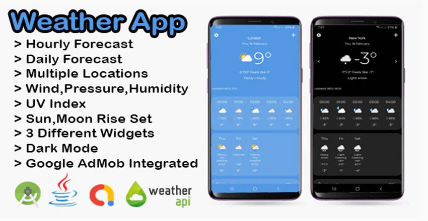 Weather App Android Template with AdMob