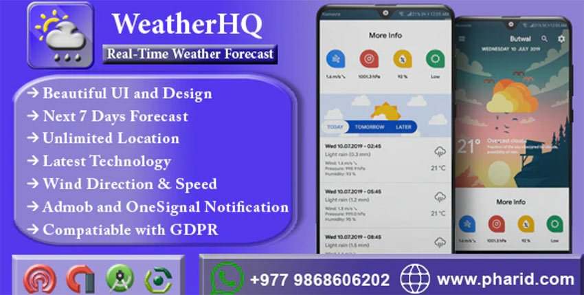 WeatherHQ - Weather App Android Template