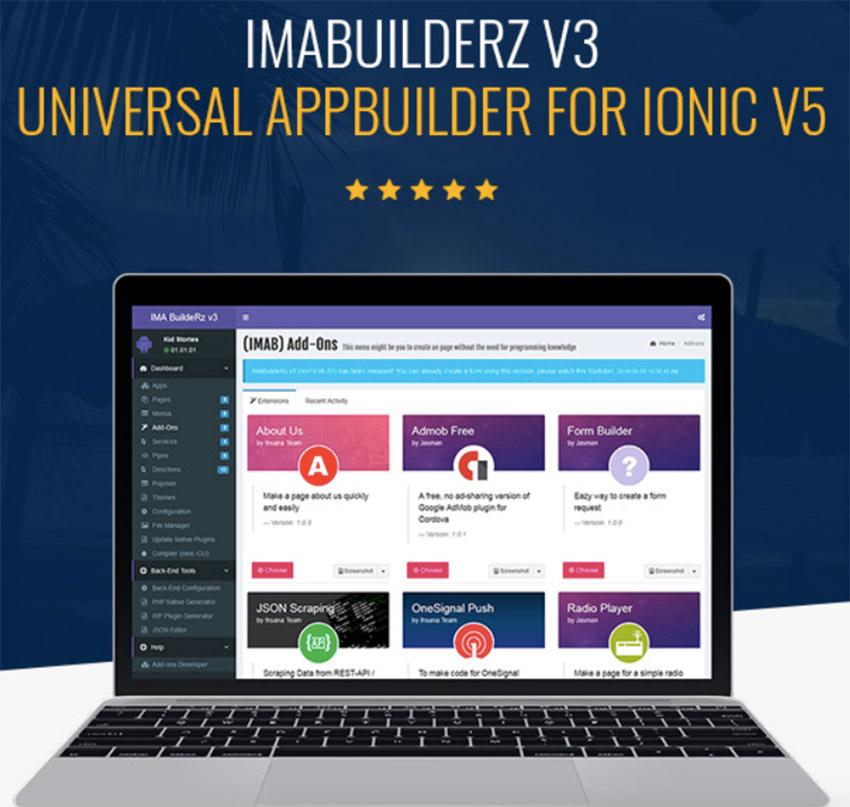 IMABuildeRz v3 - Universal AppBuilder for Ionic v5