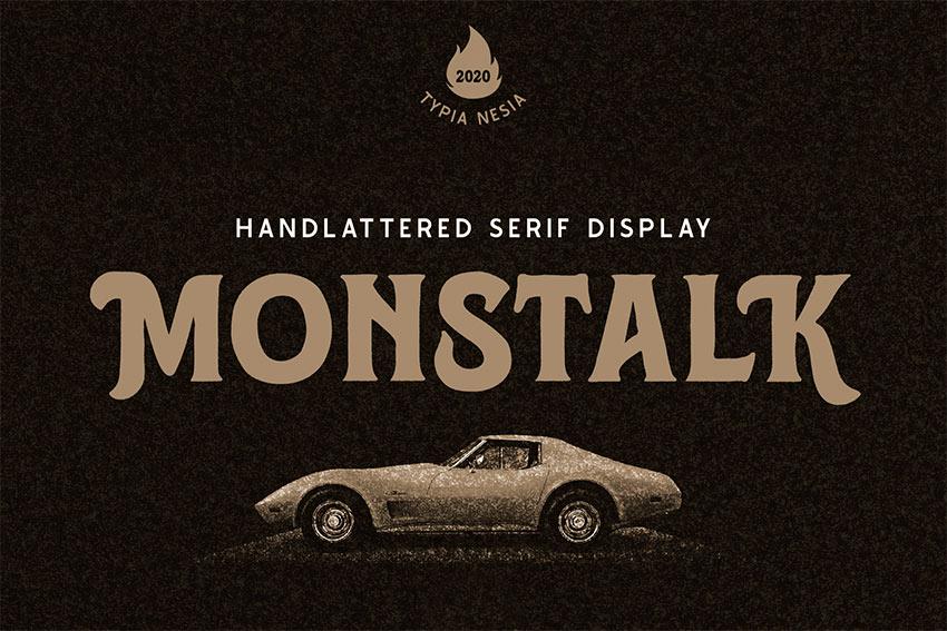 Monstalk - Hand Lettering Vintage Serif (OTF, TTF, WOFF)