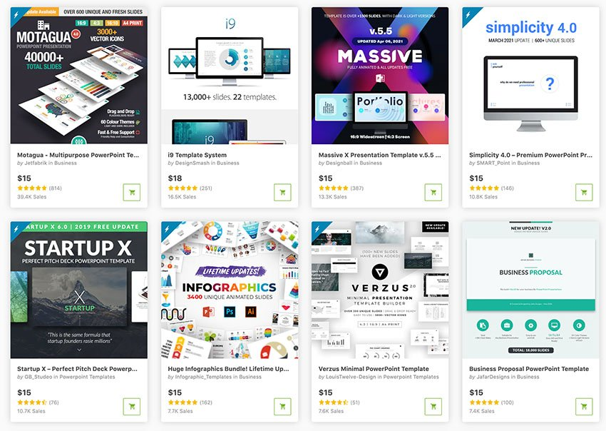 Use the best PowerPoint design templates from GraphicRiver to create a great PPT design quickly.
