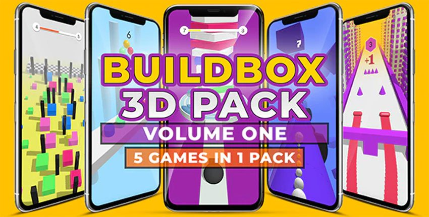 BUILDBOX 3D PACK - Hypercasual Game Templates For iOS
